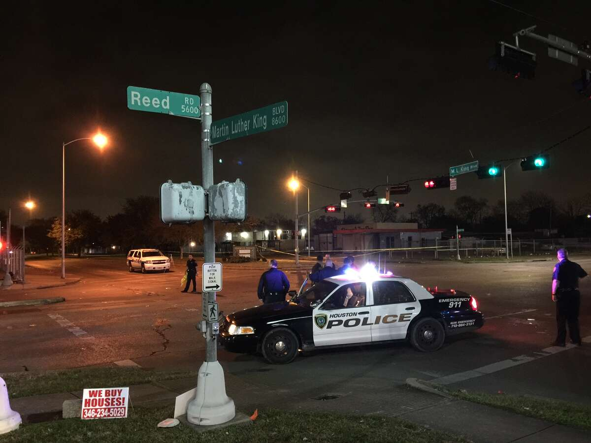 At least two people were shot Monday night along MLK and Reed Road in southeast Houston.