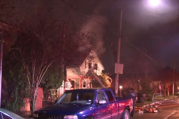 Fire damaged portions of a vacant about 2 a.m. Tuesday, Jan. 17. 2017, on North York near Canal in east Houston. (Metro Video)