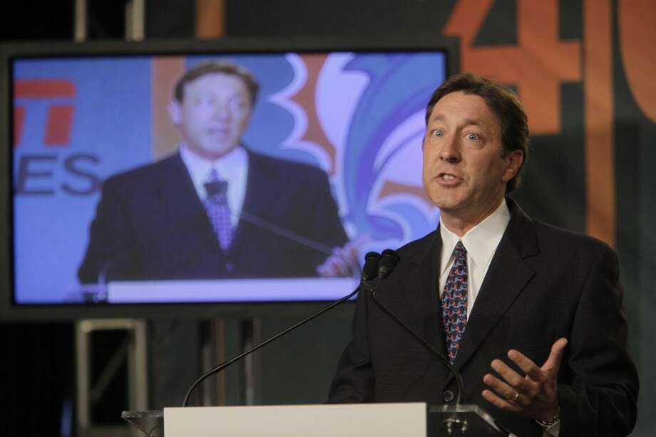 FILE — Then-ESPN President George Bodenheimer speaks to reporters during a news conference Tuesday, July 21, 2009 in New York. Photo: AP Photo / Mary Altaffer / AP2009