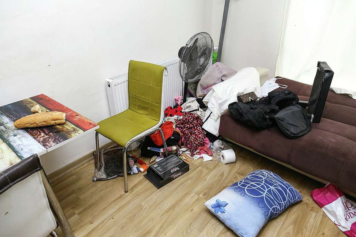 A messed up room is seen at the flat where has been used as a hideout place by Abdulgadir Masharipov, the main suspect behind the deadly terrorist attack on an Istanbul nightclub after the yesterday's police operation in Esenyurt District of Istanbul, Turkey on January 17, 2017. Abdulgadir Masharipov, the main suspect behind the deadly terrorist attack on an Istanbul nightclub during new year's celebrations was captured with a police operation on a flat in Istanbul's Esenyurt district, yesterday. Four other people, including a man of Kyrgyz origin and three women, were detained along with Masharipov.
