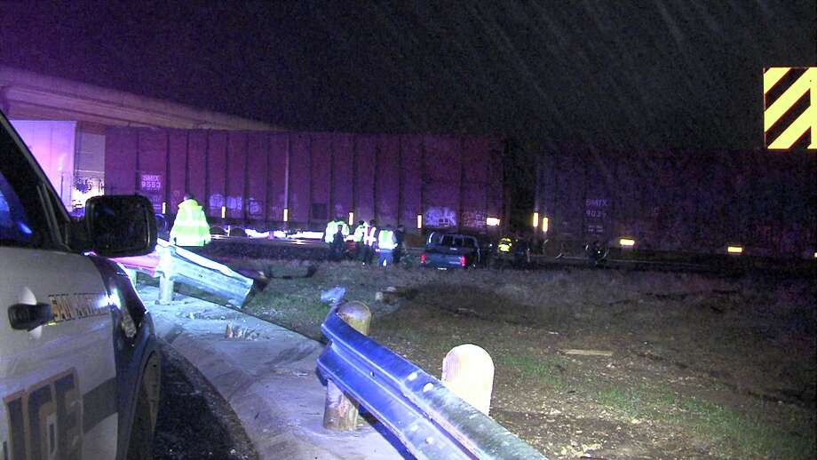 A motorist drove into a moving train on Jan. 17, 2017, near the intersection of Loop 1604 and Green Mountain Road. Photo: Ken Branca