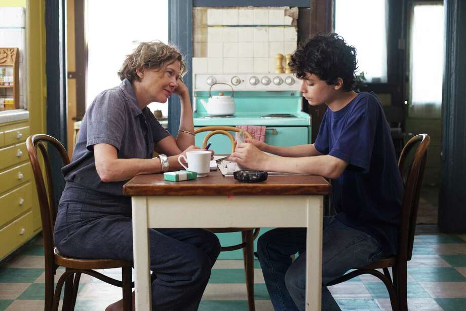 """Annette Bening is a freewheeling mother in the '70s who has trouble connecting with her son (Lucas Jade Zumann) in """"20th Century Women."""" Photo: A24 / Los Angeles Times"""