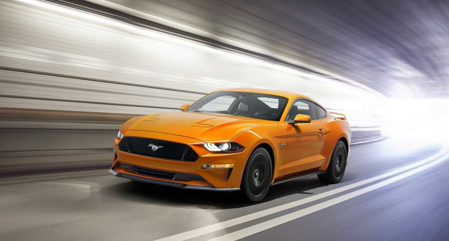 2018 Ford Mustang V8 GT with Performance Package in Orange Fury Photo: Ford