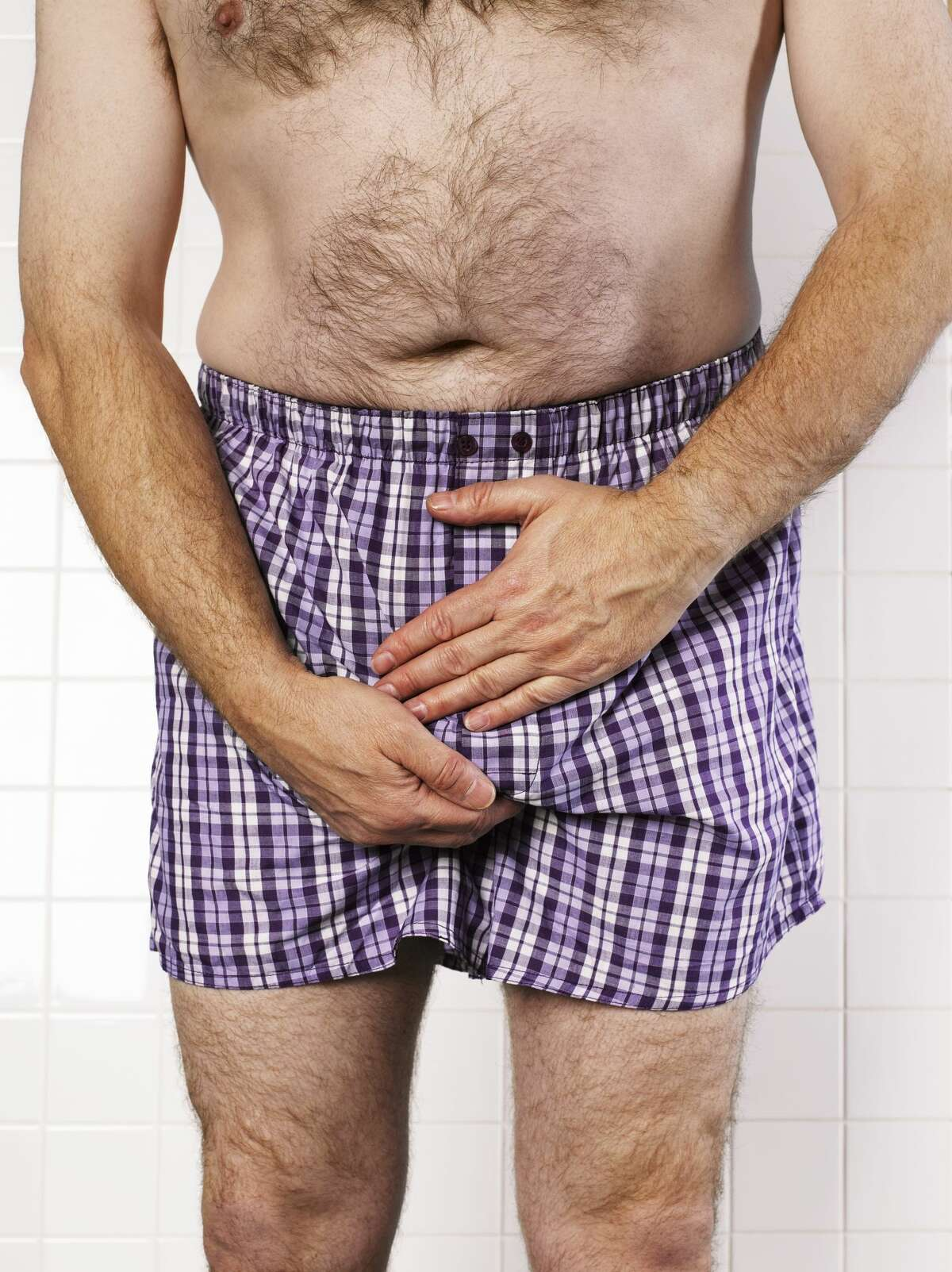 Guys should start self-examinations for testicular irregularities You've like already been aware of your boys downstairs for some time -- at least since pre-puberty -- but actually taking a more intent pass down there could be a serious health matter. Testicular cancer chances are higher after 30 years old.
