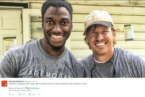 """In the last episode of """"Fixer Upper,"""" the Gaineses  join Robert Griffin III to renovate a veteran's home. The man lost his wife before the episode aired."""