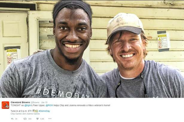 "In the last episode of ""Fixer Upper,"" the Gaineses  join Robert Griffin III to renovate a veteran's home. The man lost his wife before the episode aired."