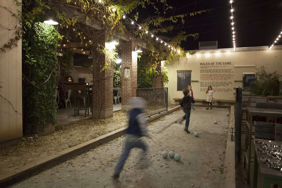 Campo Fina Bocce ball court in the outdoor patio, Friday January, 06 2017 in Healdsburg, CA. (Peter DaSilva Special to the Chronicle)