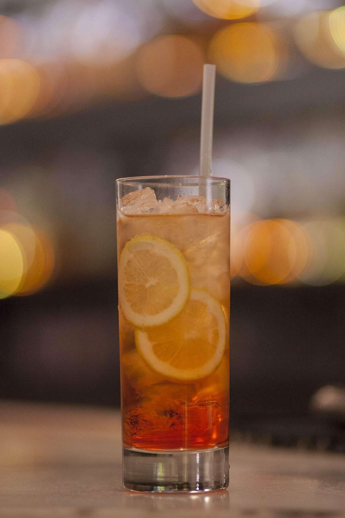 Chalkboard's happy hour drink, Aperol Spritz:aperol/prosecco/sparkling water, Thursday January, 05 2017 in Healdsburg, CA. (Peter DaSilva Special to the Chronicle)