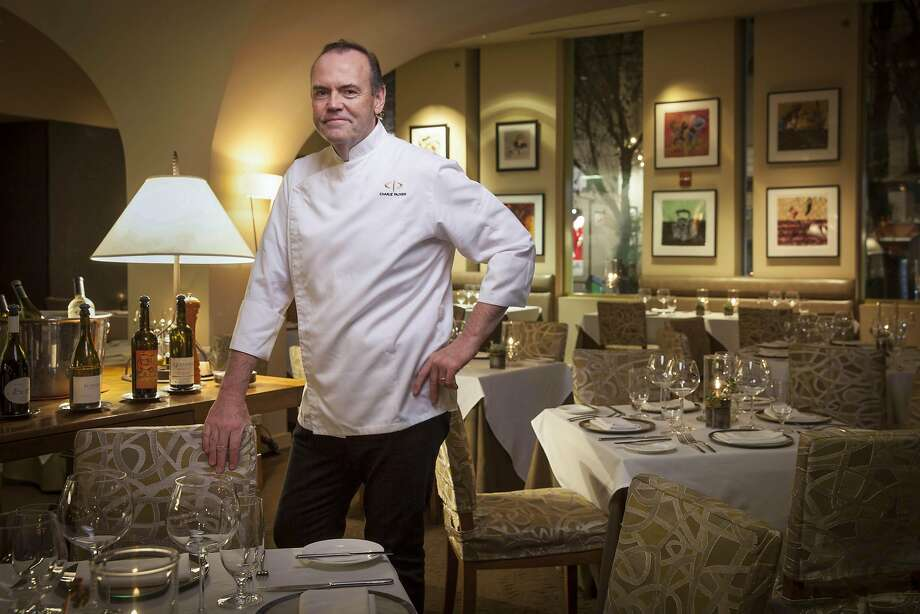 Chef Charlie Palmer in the dining room of Dry Creek Kitchen. Photo: Peter DaSilva