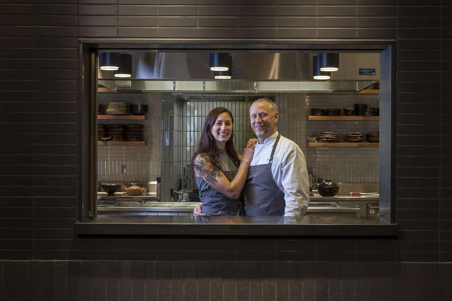 SingleThread Chef Kyle Connaughton and his wife, Katina, who oversees the restaurant's farm. Photo: Peter DaSilva