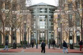 Outside the federal building on Tuesday, Jan. 17, 2017 in Oakland, Calif. Inside the courthouse, Noor Salman faces charges. Salman is the wife of Omar Mateen, a 29-year-old man who killed 49 people on June 12, 2016, at Pulse, a gay nightclub in Orlando, Florida. Mateen, who pledged allegiance to ISIS, died in a shootout with police at the nightclub.