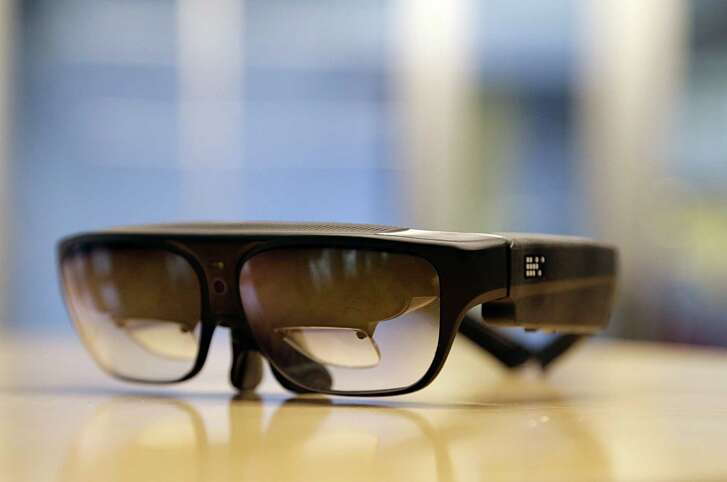 A pair of glasses to assist the visually impaired from the AT&T Foundry in the Texas Medical Center Jan. 6, 2017, in Houston. ( James Nielsen / Houston Chronicle )