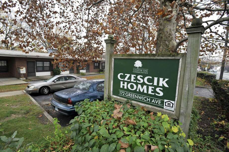 "108 Greenwich Ave.: Czescik Homes, an affordable residential complex managed by the city's housing authority, will be vacated by early March, according to Vincent Tufo, executive director of Charter Oak Communities. In late 2015, Charter Oak Communities agreed to transfer the Greenwich Avenue property to the city for use in the Mill River Park development. This process is still underway, but pending final approvals, the city plans to abate and demolish the housing complex. The remaining Czescik residents will be transfered to Charter Oak's newest facility, at 992 Summer Street. Charter Oak will own and operate this facility in partnership with Inspirica. Have a question about a building or property? Email Nora Naughton with ""Point of Interest"" in the subject line at nora.naughton@scni.com or call 203-964-2263. Photo: Michael Cummo / Hearst Connecticut Media / Stamford Advocate"
