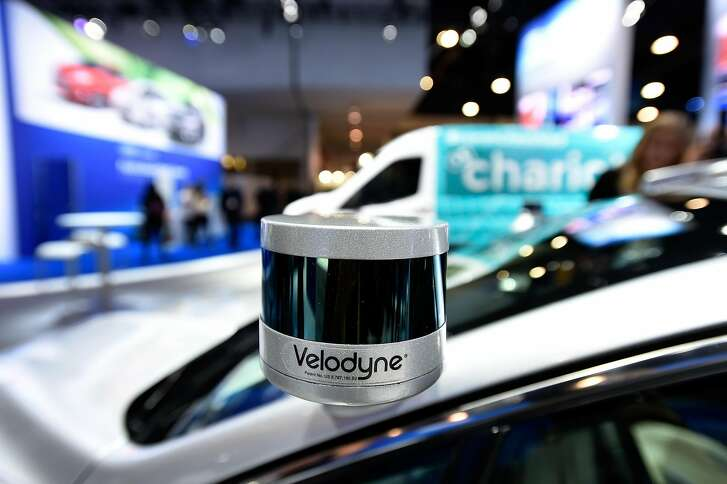 LAS VEGAS, NV - JANUARY 05:  A Velodyne LiDAR sensor is mounted on a Ford Fusion hybrid autonomous development vehicle at the Ford booth at CES 2017 at the Las Vegas Convention Center on January 5, 2017 in Las Vegas, Nevada. CES, the world's largest annual consumer technology trade show, runs through January 8 and features 3,800 exhibitors showing off their latest products and services to more than 165,000 attendees.  (Photo by David Becker/Getty Images)