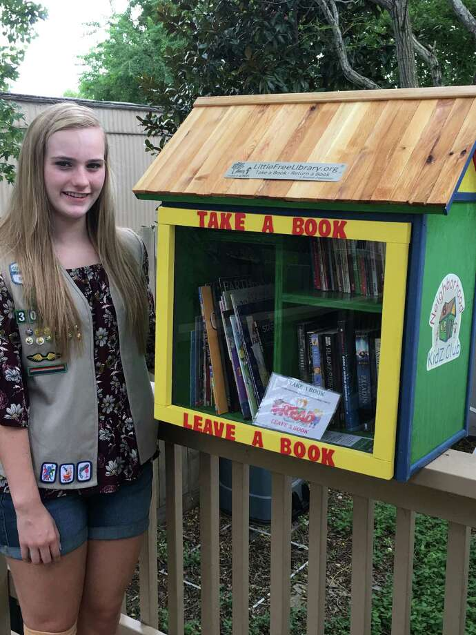 Chloe Bartine, a senior at Seven Lakes High School, has earned the Girl Scout Gold Award, the highest honor in Girl Scouting. To earn the award, Bartine designed and built two Little Free Libraries for Neighborhood Kidz Club in the communities of Western Pines and Trinity Hunters Place located in Katy. Her goal was to address the learning gaps that occur over the summer or holiday breaks when children do not have access to books.  Photo: Girl Scouts Of San Jacinto Council