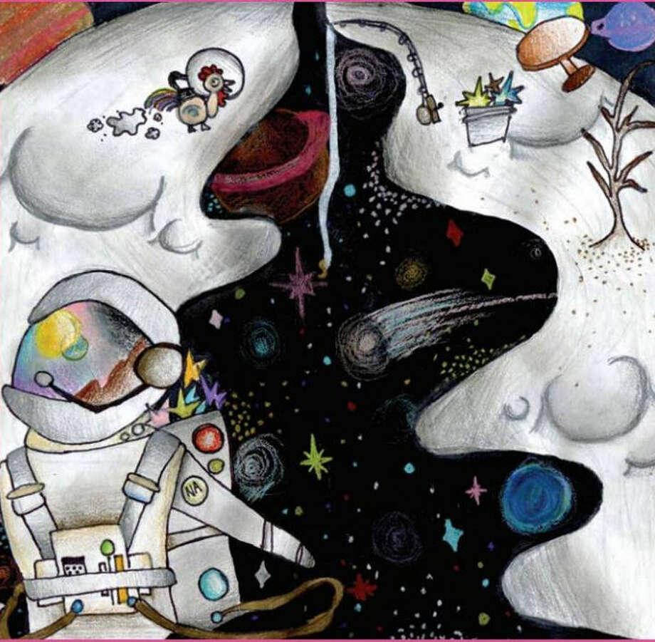 Katy Junior High sixth-grader Sylvie Mei Lim had her artwork selected for a space calendar. Photo: Katy ISD