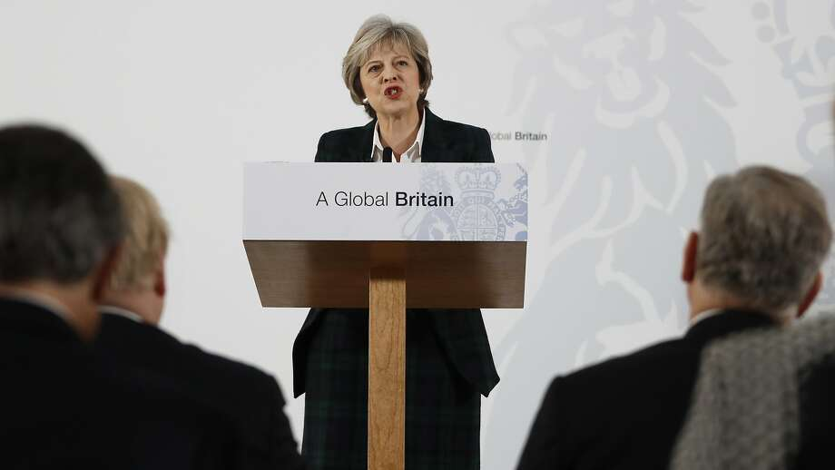 Prime Minister Theresa May gave a long-awaited speech in London on leaving the European Union. Photo: Kirsty Wigglesworth, Associated Press