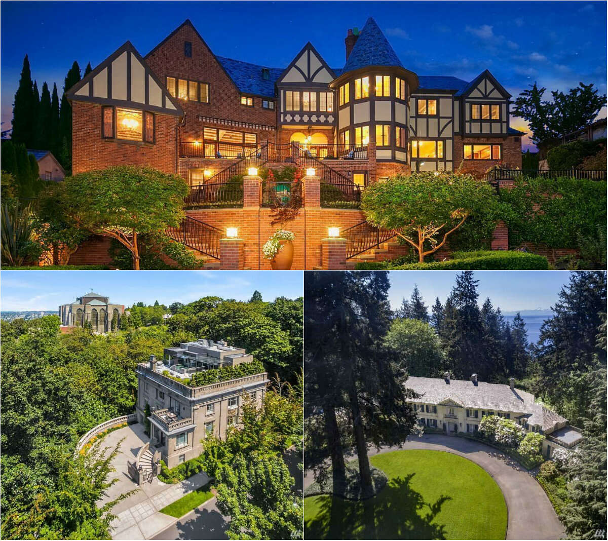 Three mansions, three lifestyles. Click through to see all the luxurious amenities a couple million can buy you in the area.