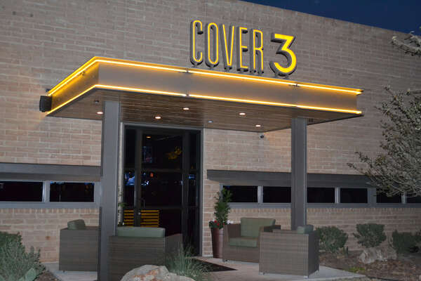 Cover 3's main entrance at 1806 N.W. Loop 1604, San Antonio. Located at Huebner Road and Loop 1604. Convenient parking and evening valet.  For reservations, call (210) 479-9700.     CLICK HERE!