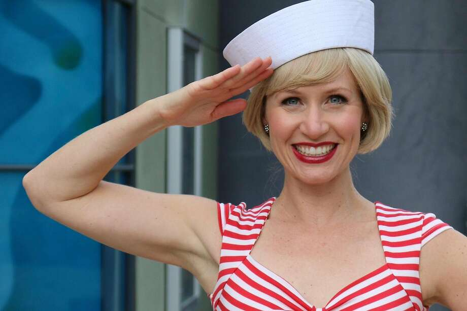 "Joy Sherratt in Pacific Coast Repertory's ""Anything Goes."" Photo: Berenice Ku, Pacific Coast Repertory Theatre"