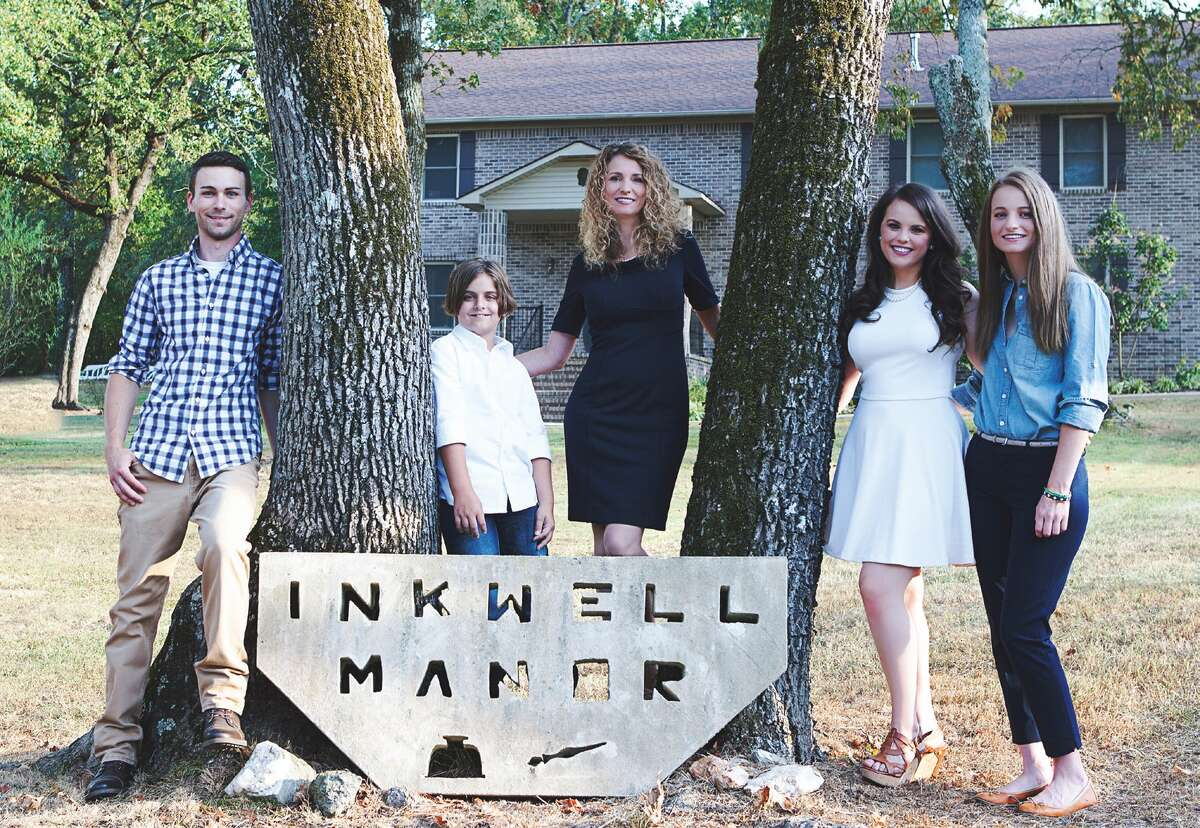 """Because Brookins dreamed of a day when she could write in the house she built, she and her kids named it """"Inkwell Manor."""""""
