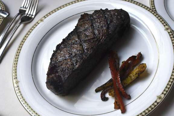 A 16-ounce New York strip steak at Bohanan's Prime Steaks and Seafood.