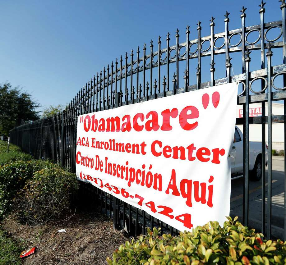 ACA Health Experts sign to help people get Obamacare hangs outside of the Ahmed and Roshan Virani Children's Clinic, Monday, Nov. 14, 2016 in Houston. ( Karen Warren / Houston Chronicle ) Photo: Karen Warren, Staff Photographer / 2016 Houston Chronicle