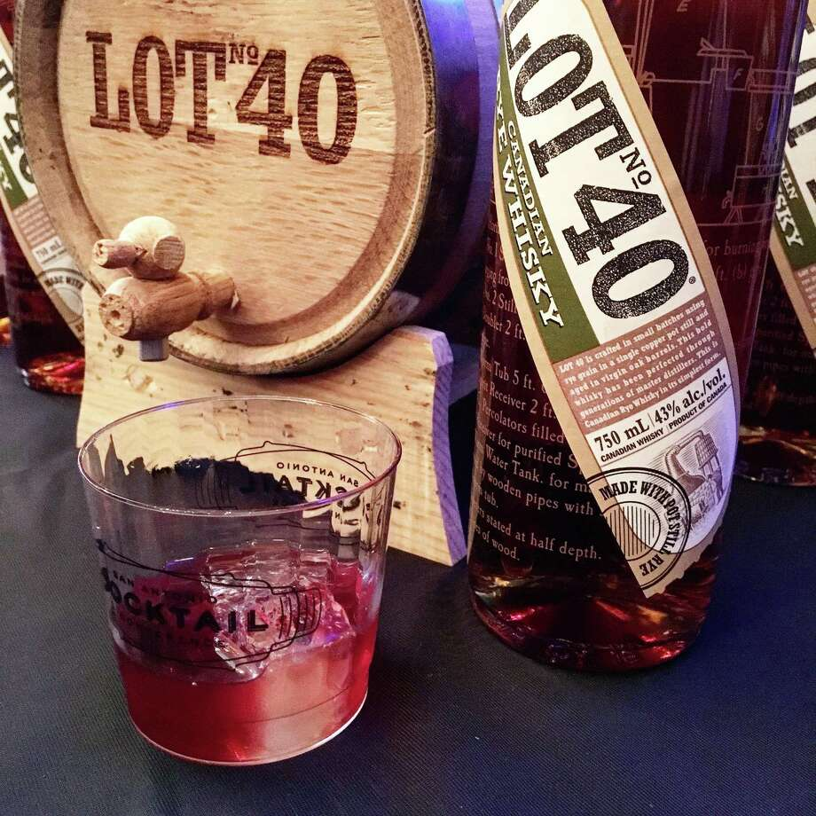 The old fashioned variation called the Up To Date from made with Lot 40 Canadian rye, Lillet Rouge and bitters was featured at the 2017 San Antonio Cocktail Conference. Photo: Mike Sutter /San Antonio Express-News