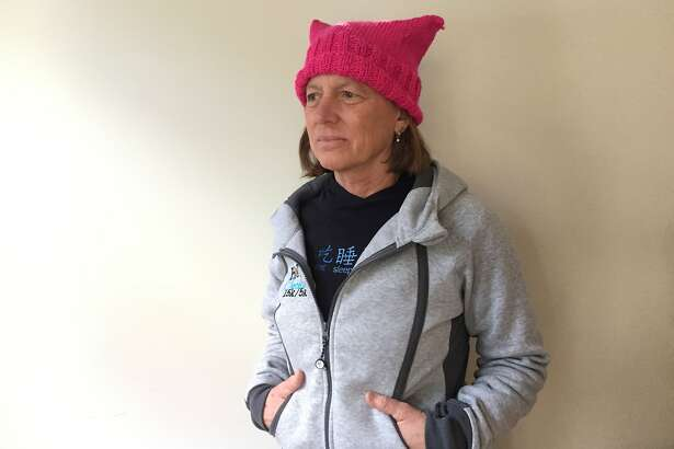 Janet Renner, a swim pro and life coach from Atherton, will march in Washington, D.C. on Jan. 20.