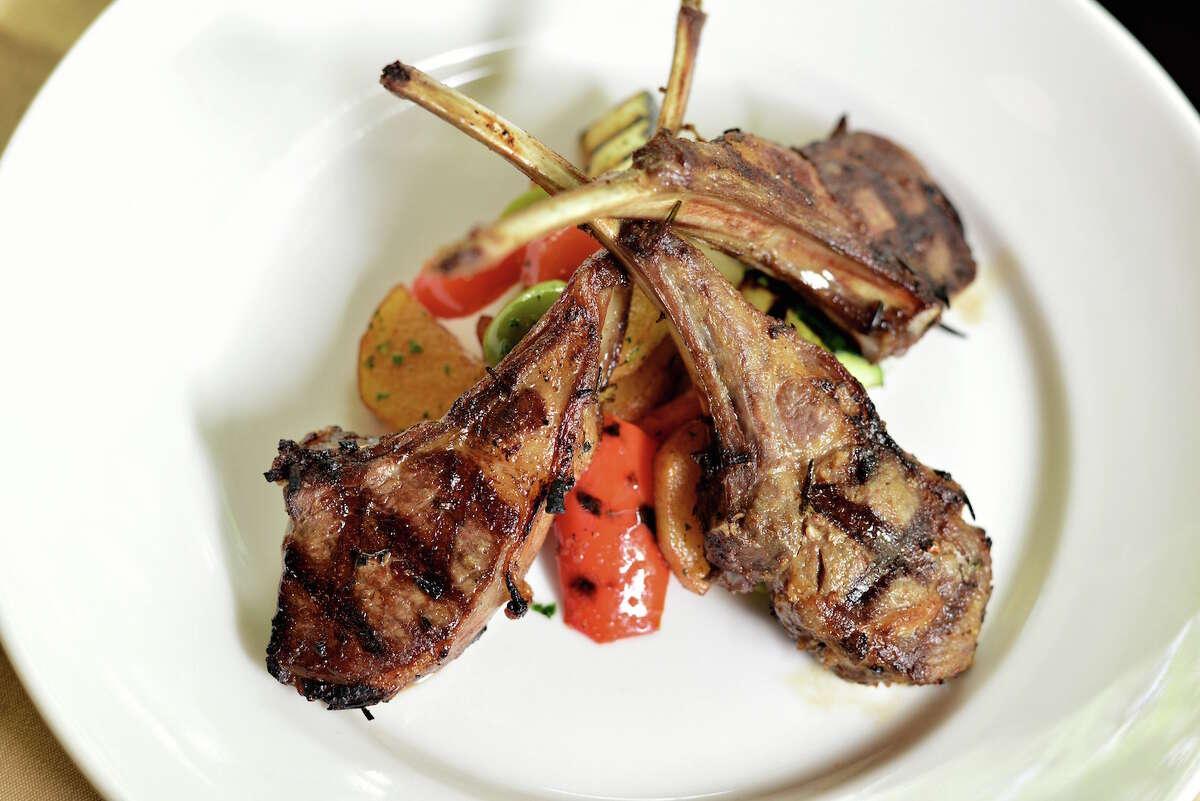 Costoletta d'agnello, a dish featuring grilled lamb chops, is a dish on the Valentine's Day menu at Aldo's Ristorante Italiano.