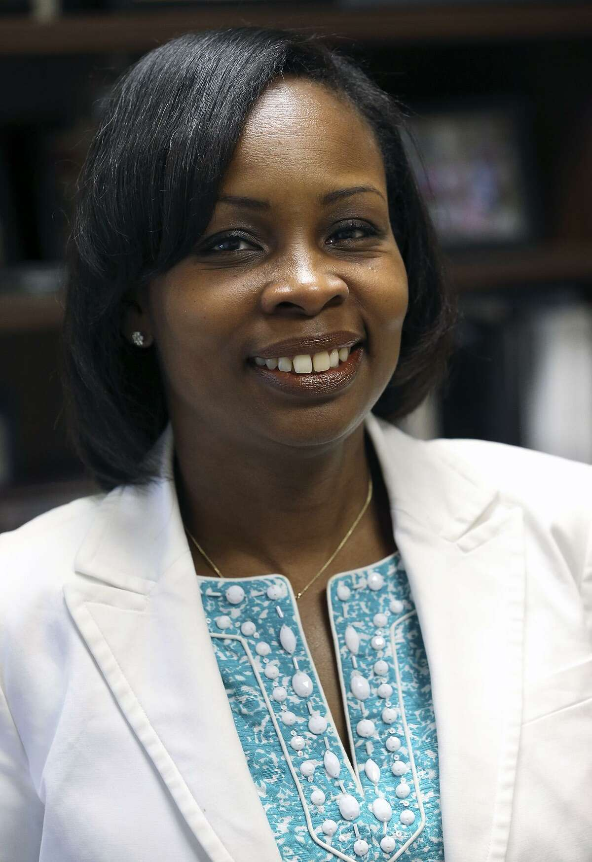 Ivy Taylor in her council office after being elected Mayor of San Antonio. July 23, 2014.