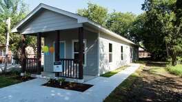 The nonprofit Alamo Community Group works to bring affordable housing to San Antonio and Bexar County. This is a new single-family house the nonprofit built in the 200 block of Coopwood, near Texas 151 and Old Highway 90.