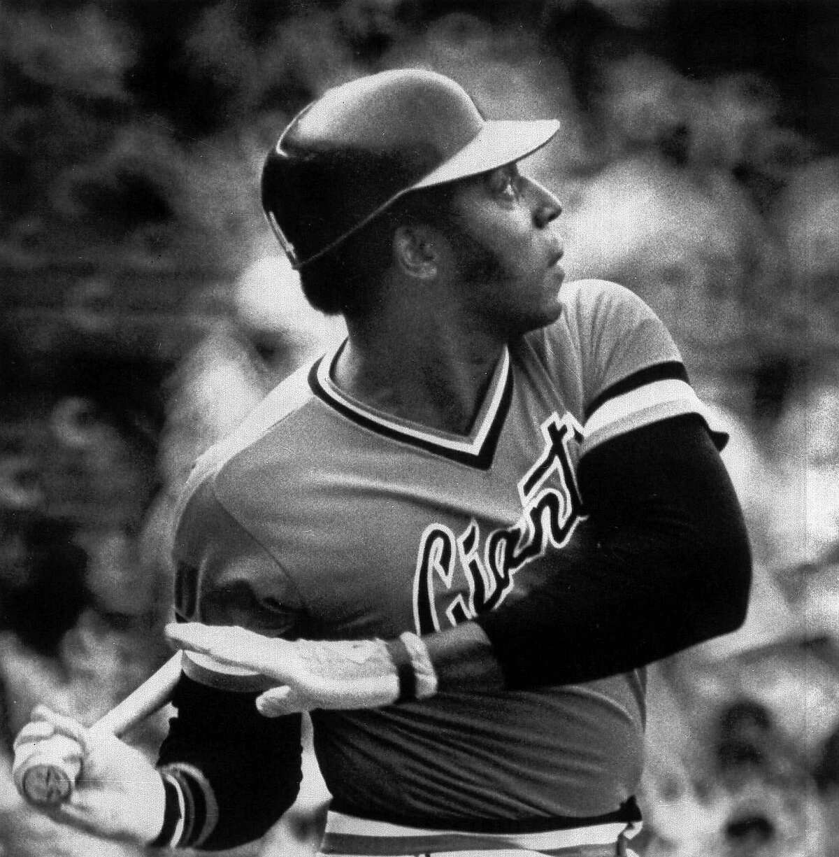 San Francisco's Giants' Willie McCovey watches as his 500th career home run goes over the left field fence in Atlanta in this June 30, 1978 photo. His home run came during the second inning against Atlanta Braves pitcher Jamie Easterly. (AP Photo)