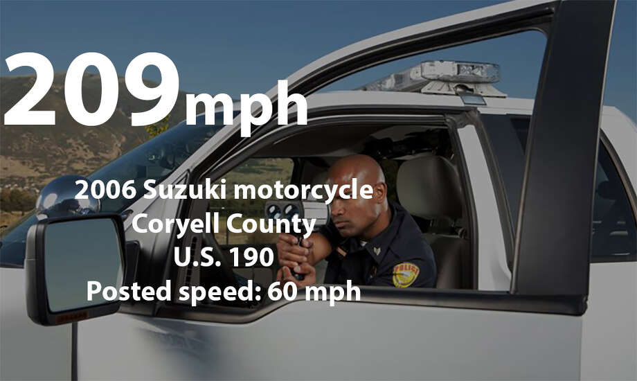 The fastest speeding tickets issued in Texas during 2016, according to the Texas Department of Public Safety Photo: Getty