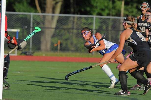 Darien's Katie Elders (22) has been named the Hearst Connnecticut Media Field Hockey MVP.