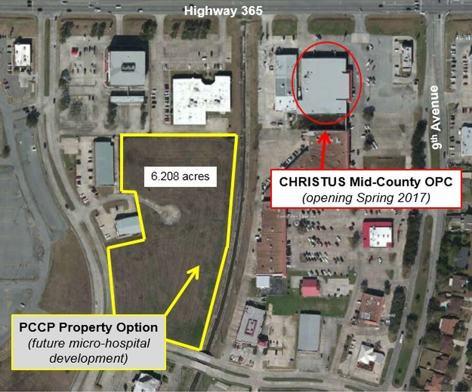 Christus has acquired 6.2 acres of property in Mid-County with plans to build new micro-hospital. The new Chrsitus Outpatient Center will be located at 9th Avenue and State Highway 365, in Nederland. Photo: Christus Southeast Texas Health System