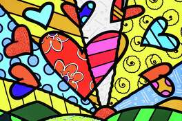 "Romero Britto's ""Novo Dia"" exudes the artist's cheerful attitude toward life."