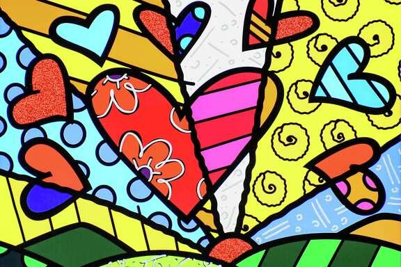 "Romero Britto's ""Novo Dia"" exudes the artist's cheerful attitude toward life."