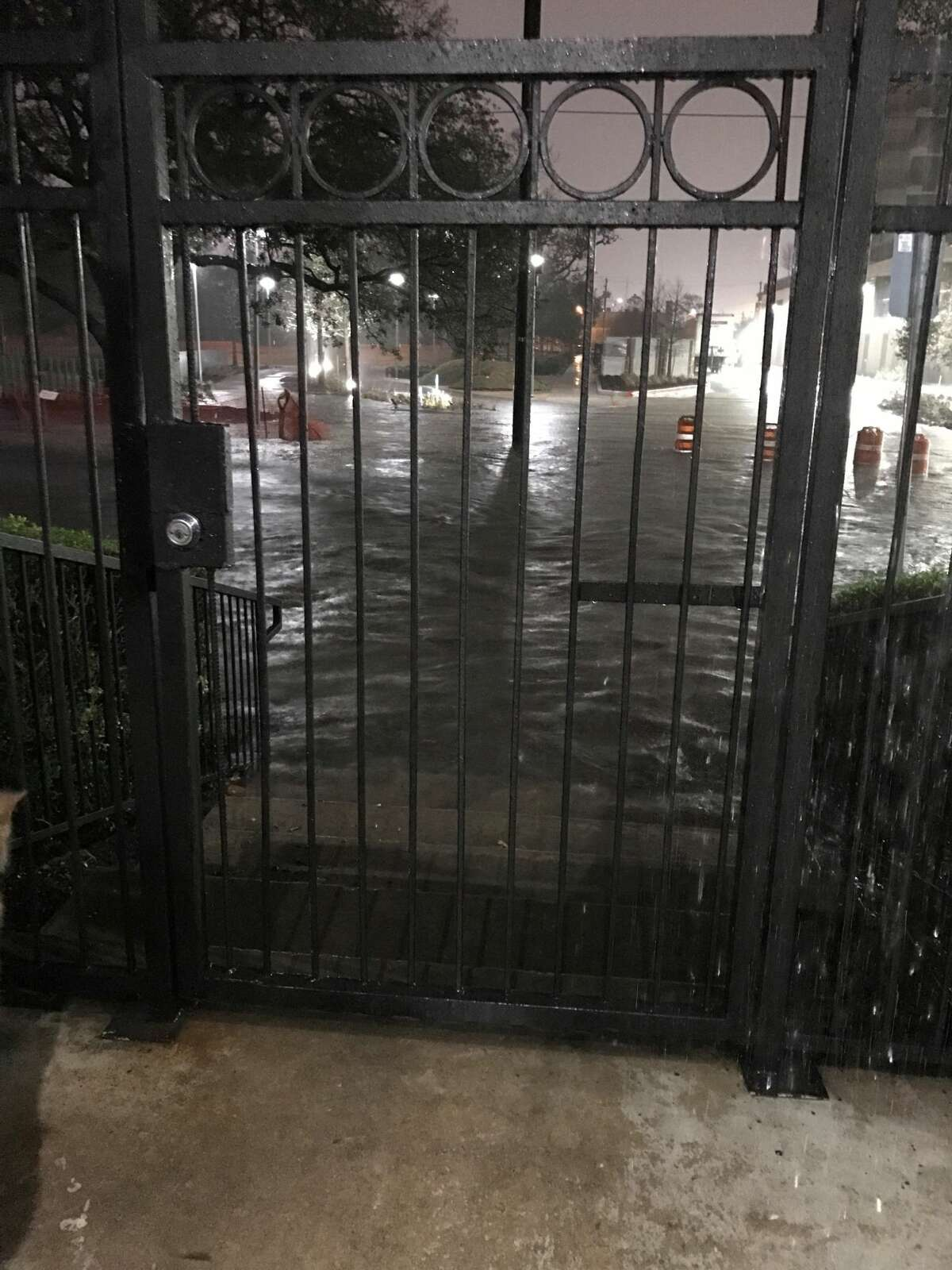 Heavy overnight rains caused widespread flooding across the Houston area, Wednesday, Jan. 18, 2017.