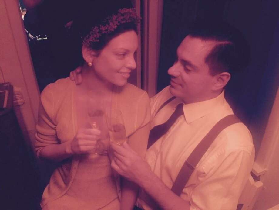 "Georgette Moger-Petraske with Sasha Petraske. ""We loved to dress up. We were very simpatico,"" Moger-Petraske said. Photo: Courtesy Georgette Moger-Petraske"