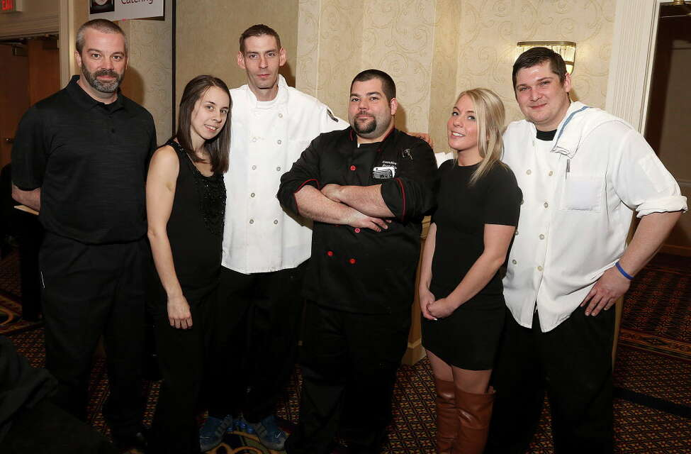 The B-rads Bistro and Catering crew, chef Scott Conroy, manager Kalyn Simard, chef Jesse Kacensky, owner/executive chef Brad Stevens, manager Molli Griffin and chef Billy Schoonmaker.