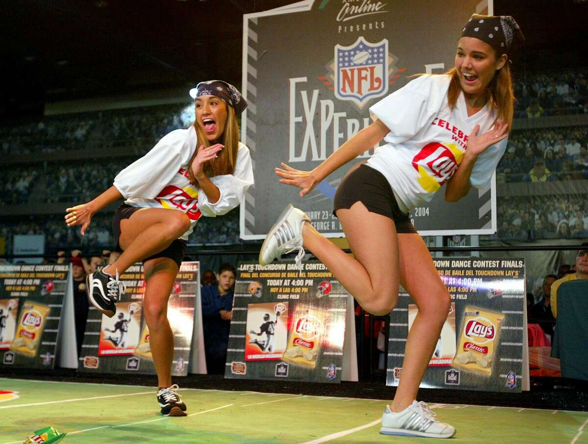 Even while the high rollers flood Houston, the week will sport plenty of affordable opportunities to get in on the Super Bowl action. Keep clicking to see some Super Bowl fun for under $35. Brittany Villareal (L) and Julie Zell of Cypress Texas compete in the Lays' Touchdown Dance Contest at the NFL Experince on January 23, 2004 at the George R. Brown Convention Center.