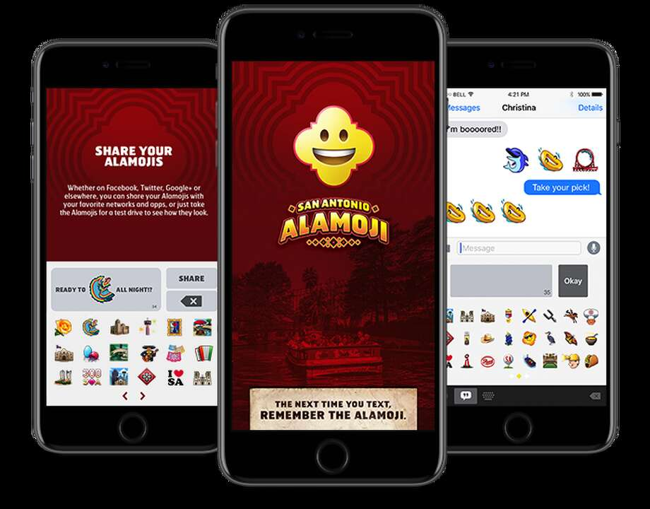 """First there were Texmojis, then Spurs Assistant Coach Becky Hammon got her own emoji and now texting Texans can send San Antonio-themed """"Alamojis"""" to their friends. Photo: Visit San Antonio"""
