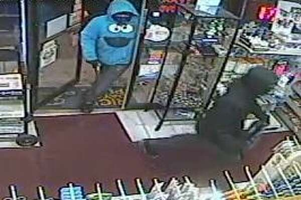 Police have released surveillance footage from cameras at Rainbow Variety in Norwalk, which was robbed this month.
