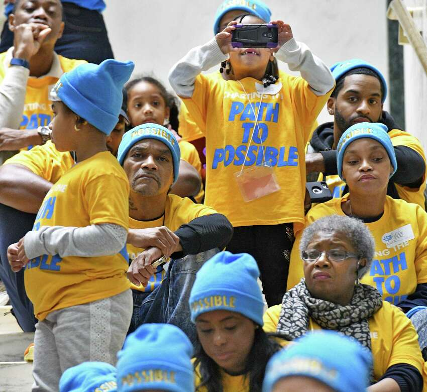 Hundreds of NYC families take to Albany to call for 200,000 students in Charter Schools by 2020 during a rally in the Well of the Legislative Office Building Wednesday Jan. 18, 2017 in Albany,NY. (John Carl D'Annibale / Times Union)