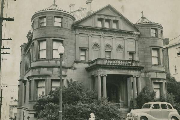 January 30, 1950: House at Jackson and Laguna Streets, in San Francisco's Pacific Heights, was once home to the Nazi Consulate. The furnishings at that time were being auctioned off. The house became the headquarters of the California Historical Society. aka the Whittier Mansion.
