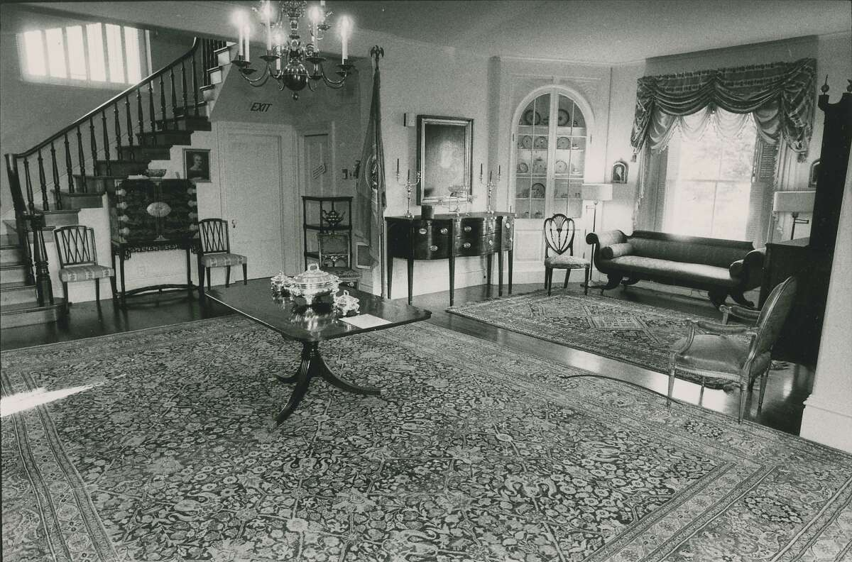 January 16, 1984: Interior of the Octagon House, aka the McElroy House, located on Gough Street, between Green and Union Streets in San Francisco's Cow Hollow.