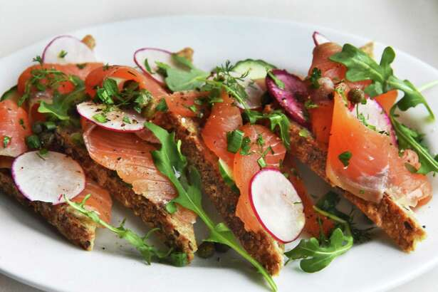 House cured salmon at the Bartlett House Thursday Jan. 12, 2017 in Ghent, NY.  (John Carl D'Annibale / Times Union)