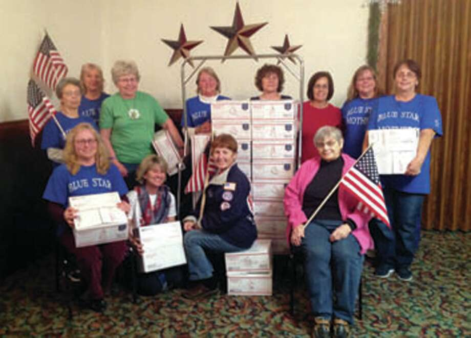 Blue Star Mothers Thumb Chapter 178 met in November to pack up Christmas boxes for our servicemen and servicewomen. Overseas servicemen and servicewomen as well as state side servicemen and servicewomen were recipients of these Christmas boxes. (Submitted photo)