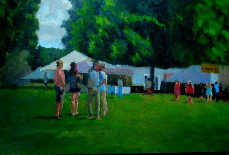 An exhibit of paintings by Richard Stalter of Gaylordsville is on view at New Milford Public Library on Main Street through Feb. 4. The display may be seen during regular library hours. Above is Stalters New Milford Fair Days. For more information, call 860-355-1191. Photo: Contributed Photo / Contributed Photo / The News-Times Contributed